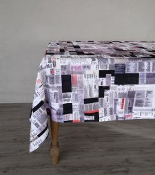 Kamola Khudayberdieva - Tablecloth made of Labels