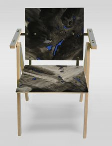 Yrjo Kukkapuro - Ink meteorology chair limited edition